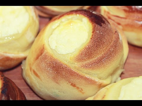 Ватрушки с творогом - Выпечка из творога / Russian Cheese Buns Recipe - Vatrushka