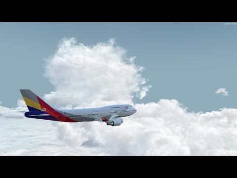 P3D V3.4 PMDG 747 V3 Asiana 721 Seoul To Hong Kong On Vatsim