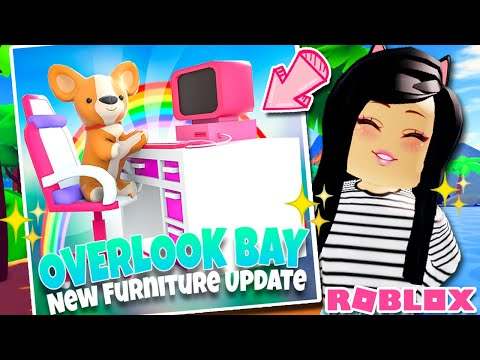New Gamer Furniture Update Overlook Bay Roblox Pets Youtube