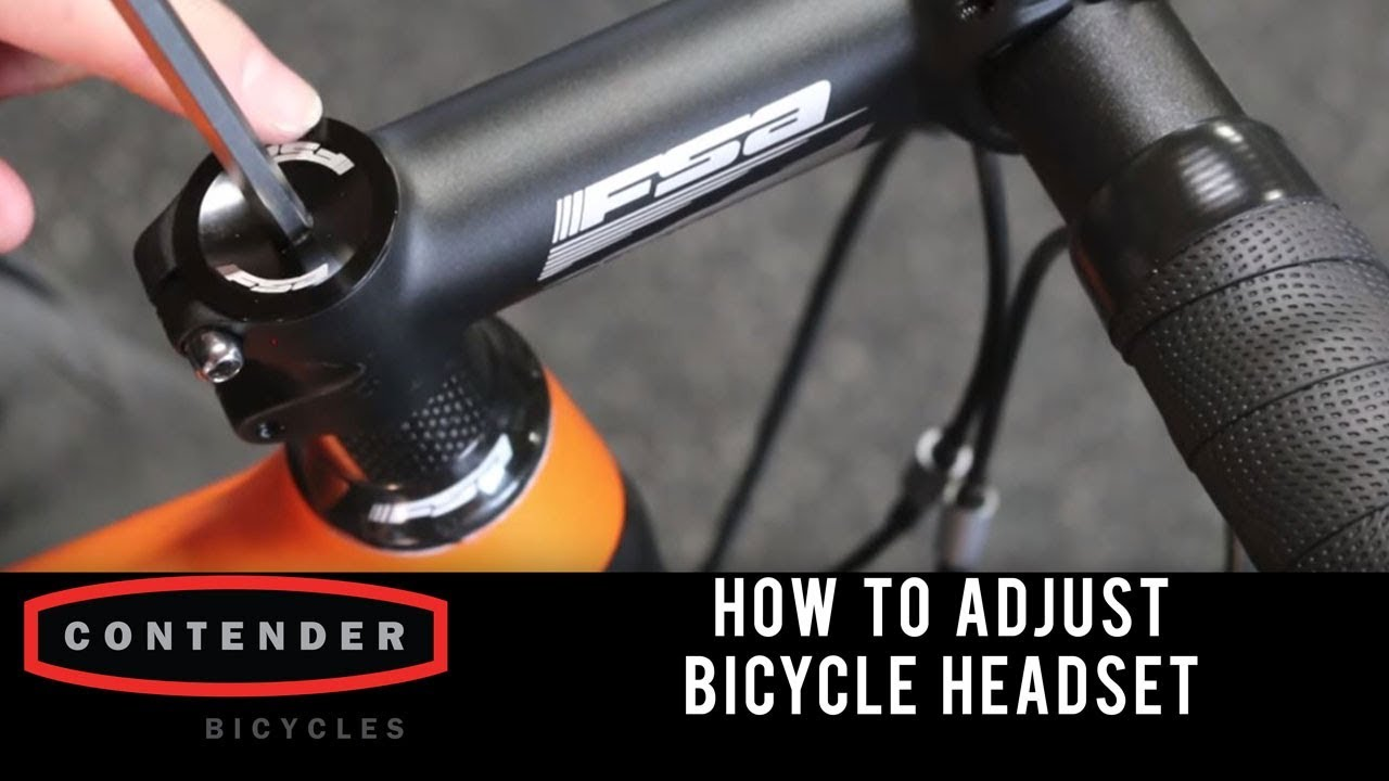 How To Adjust A Bicycle Headset Youtube
