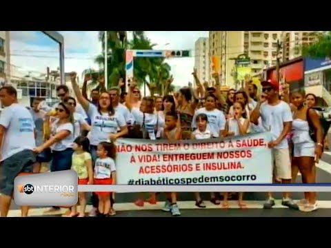 Pacientes fazem manifestação para receber insulina do Estado