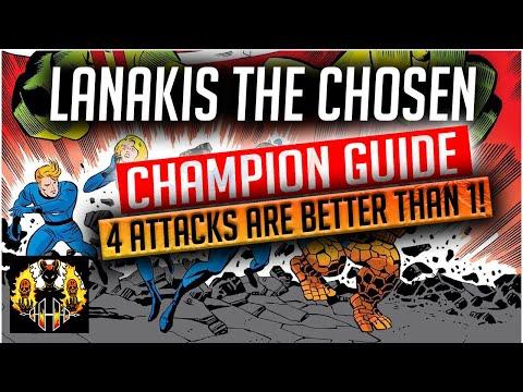 RAID: Shadow Legends | Lanakis The Chosen Champion Guide | Ally Attack Legendary GOD!