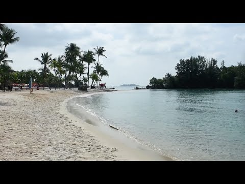Sentosa Island, Singapore - Siloso Beach - Full Tour (2018)
