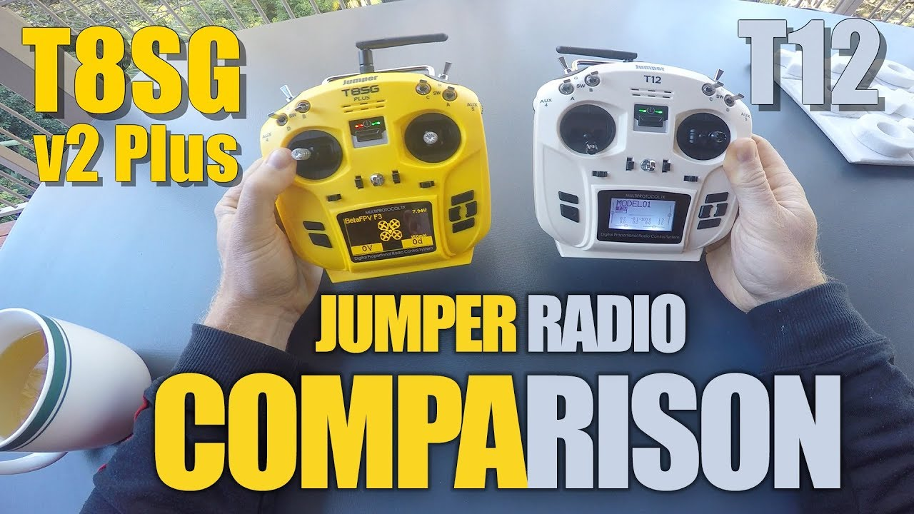 Comparison: Jumper T8SG v2+ vs  Jumper T12