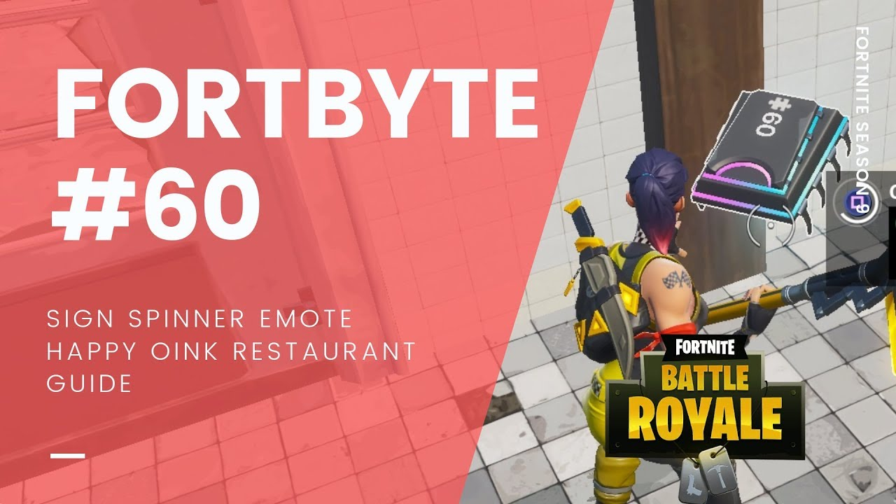 Fortnite Fortbyte #60: Accessible With Sign Spinner Emote In