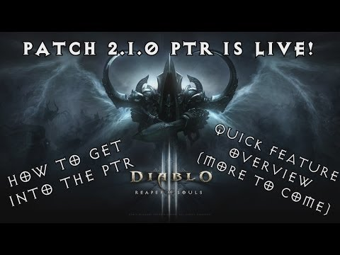 Diablo 3 Reaper of Souls: Patch 2.1.0 PTR - How to play and quick features overview