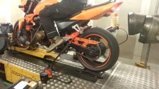 Kawasaki -z750 dyno gears run