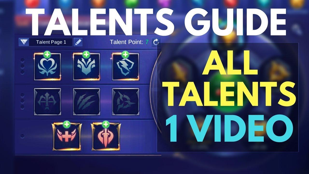 The Ultimate Emblem Talents Guide Mobile Legends Bang Bang Youtube