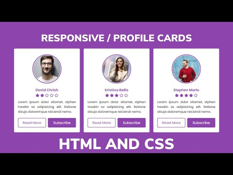 Responsive Profile Cards Using HTML & CSS Only | CodingLab