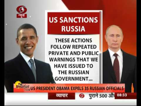 US President Obama expels 35 Russian officials