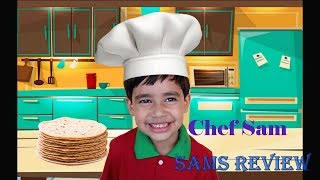 Kids Fun Baking Cookies and Sam Learn to make Roti! Kids Learning Time!!