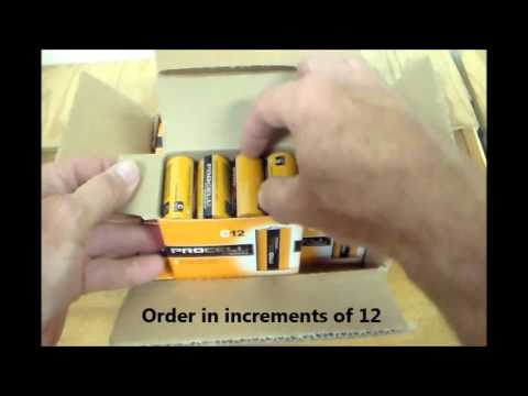 Duracell Procell C Size Alkaline Battery Packaging PC1400
