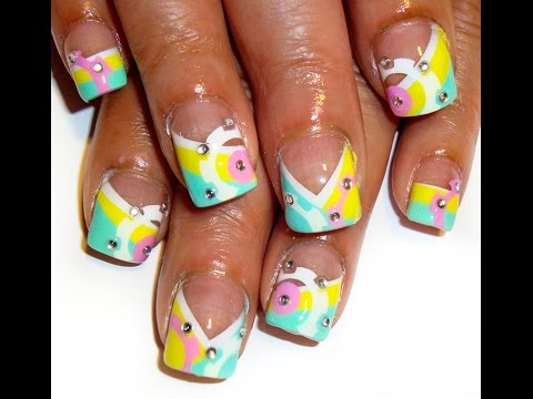 Art Deco Airbrush Nail Design How To