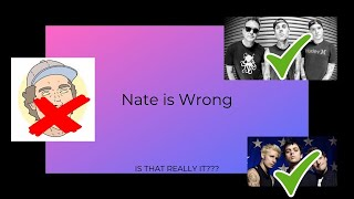 Nate the Mate is Wrong! | Pop Punk Bands Tier List Video