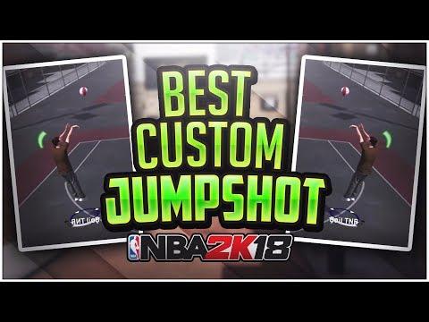 MY CUSTOM JUMPSHOT IN NBA 2K18 - GREENLIGHTS EVERYWHERE