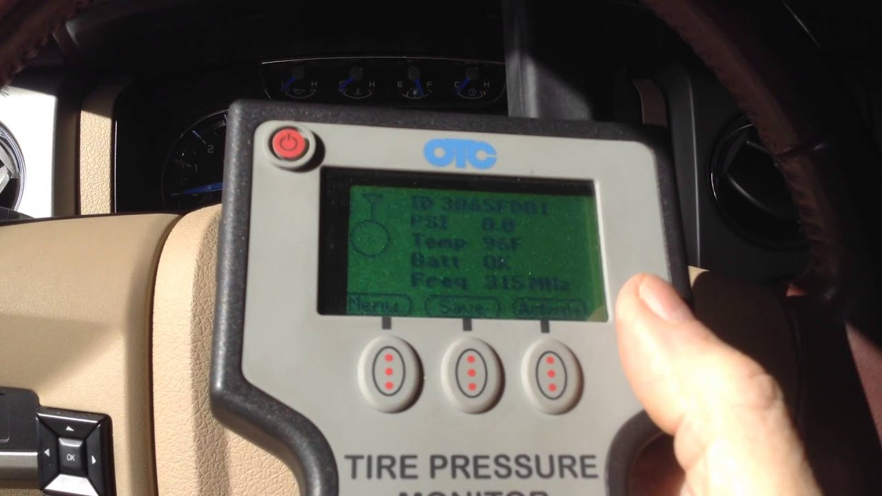 Putting F150 Into Learn Mode To Train Tire Pressure