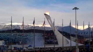 Фонтан в олимпийском парке, 09 февраля 2014