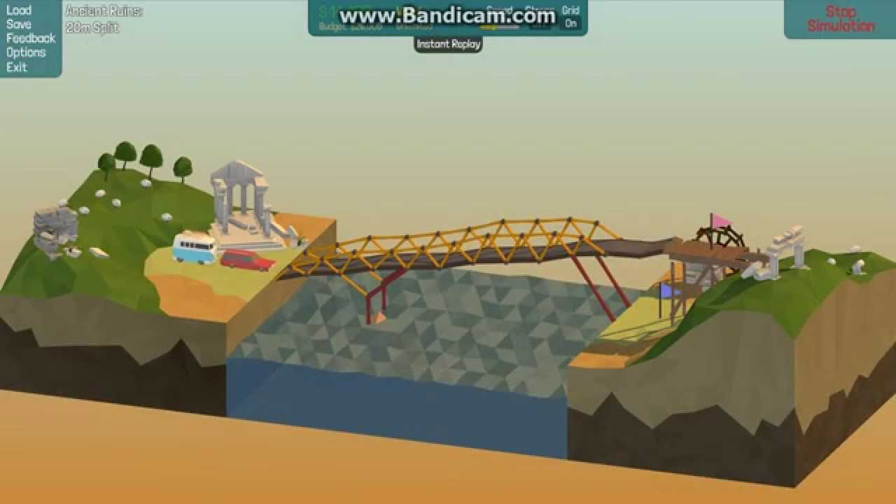 poly bridge 20m split ancient ruins solution how to beat no hydrolic cheat youtube. Black Bedroom Furniture Sets. Home Design Ideas