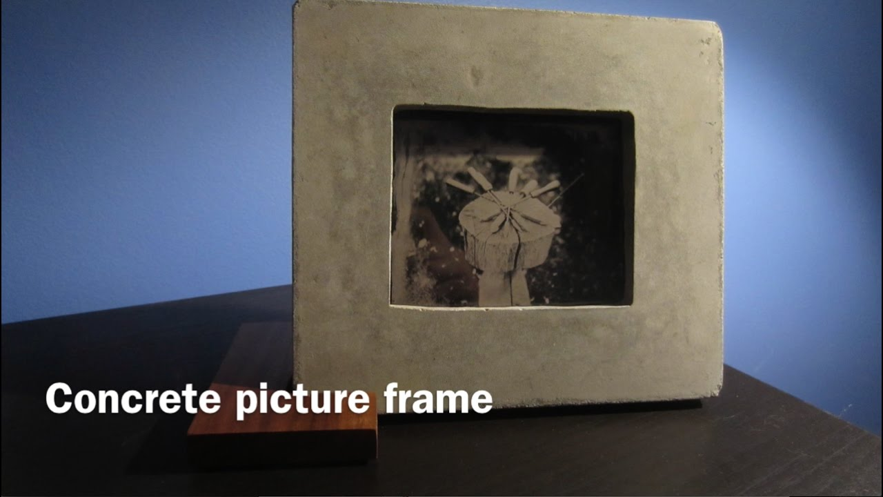 how to make a concrete picture frame youtube. Black Bedroom Furniture Sets. Home Design Ideas