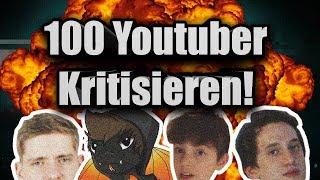 100 YouTuber kritisieren ft. KuchenTV, Firegoden, JF not Kennedy..