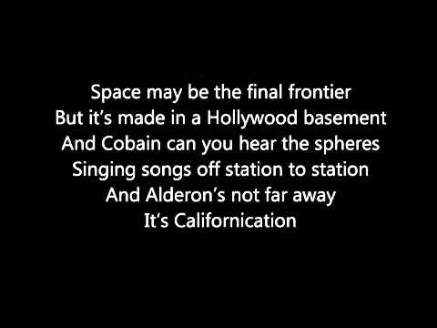 Red Hot Chilli Peppers Californication Lyrics
