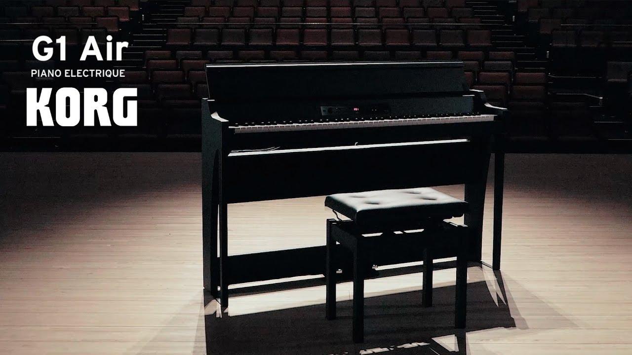 le nouveau standard du piano num rique korg g1 air vid o de la boite noire youtube. Black Bedroom Furniture Sets. Home Design Ideas