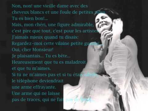 """Virginia Zeani """"La Voix Humaine"""" Francis Poulenc"""