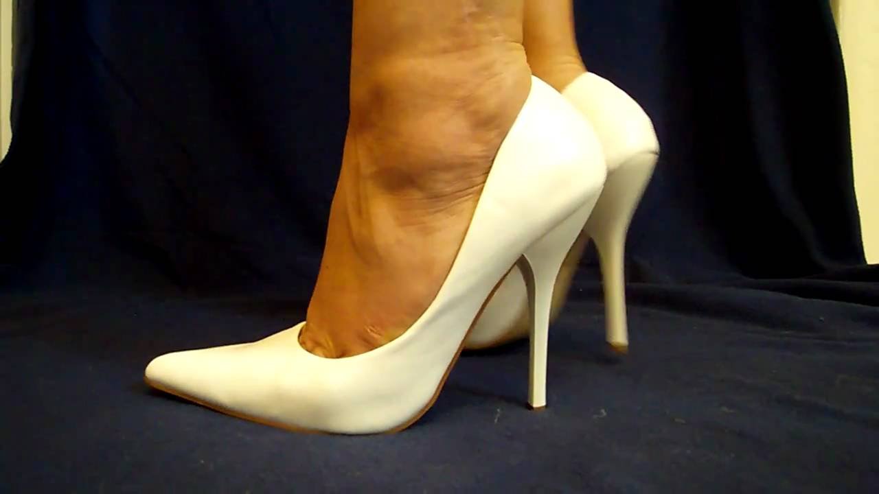 White stiletto court shoe 45 inch high heels youtube 45 inch high heels youtube altavistaventures Image collections