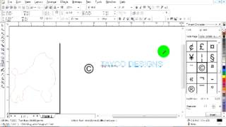 Add A Copyright Logo To Scrollsaw Patterns In Coreldraw