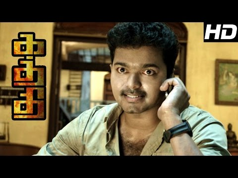 Kaththi Movie s  Kaththi mass fight   Kaththi Interval  SamanthaVijay Loves each other