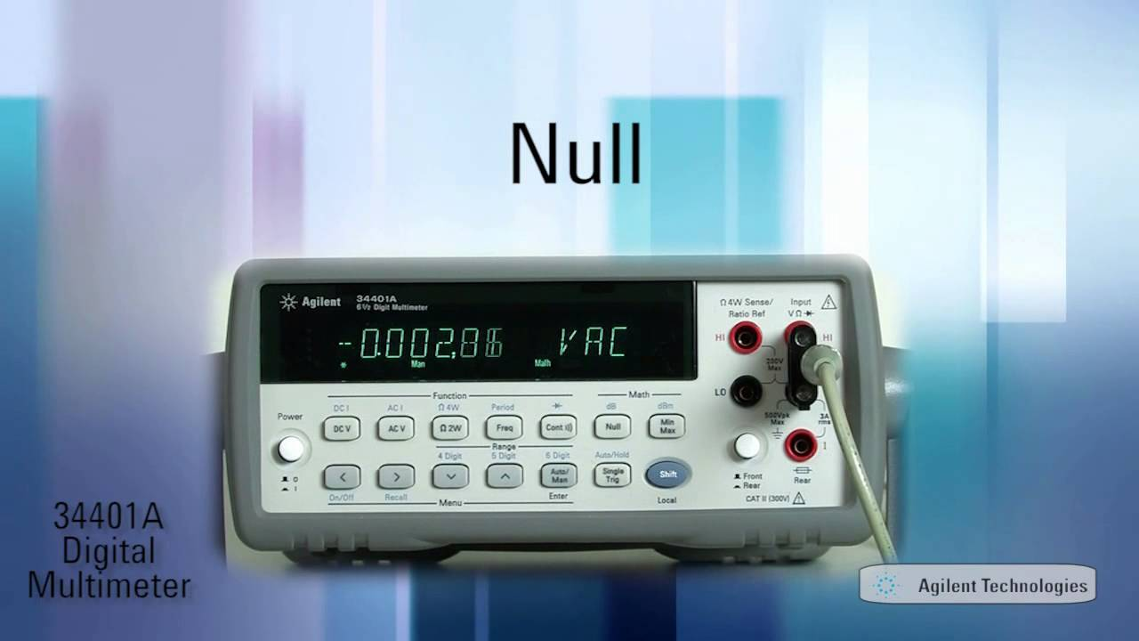 34401a digital multimeter 6 5 digit dmm product demonstration youtube rh youtube com Images of Multimeters DMM Used Agilent 34401A