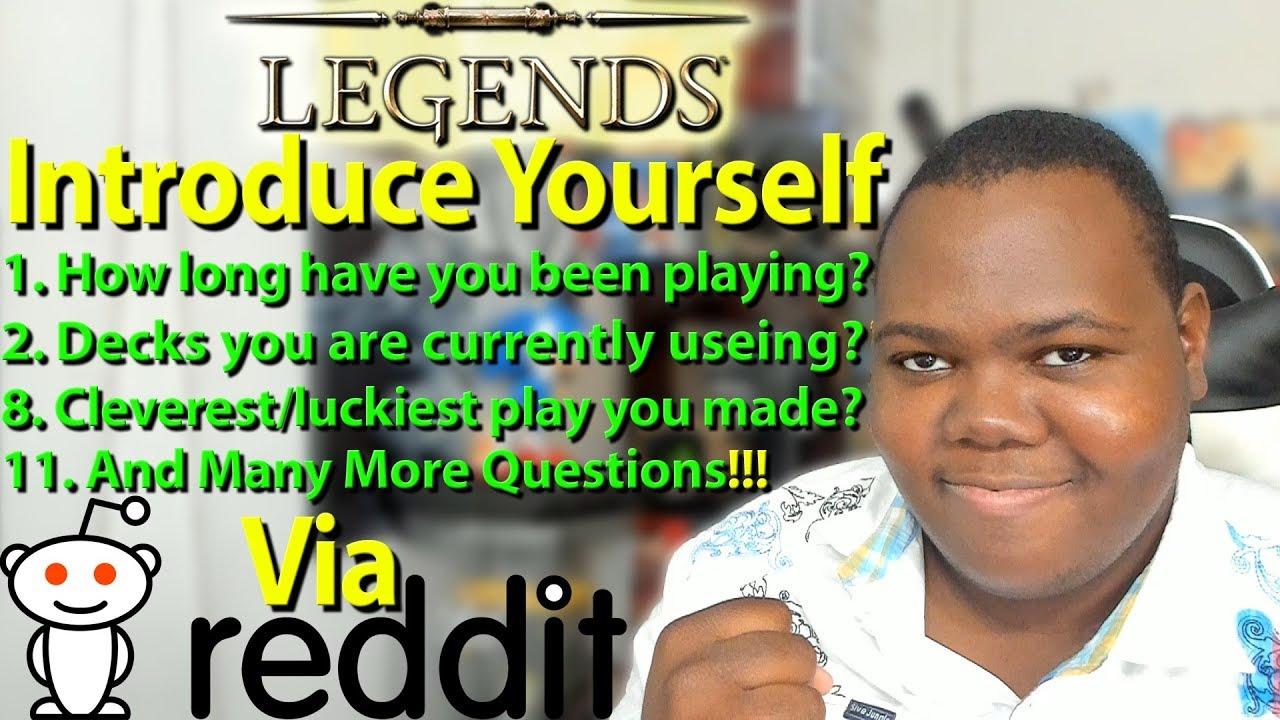 Introduce Yourself The Elder Scroll Legends Edition Via Reddit