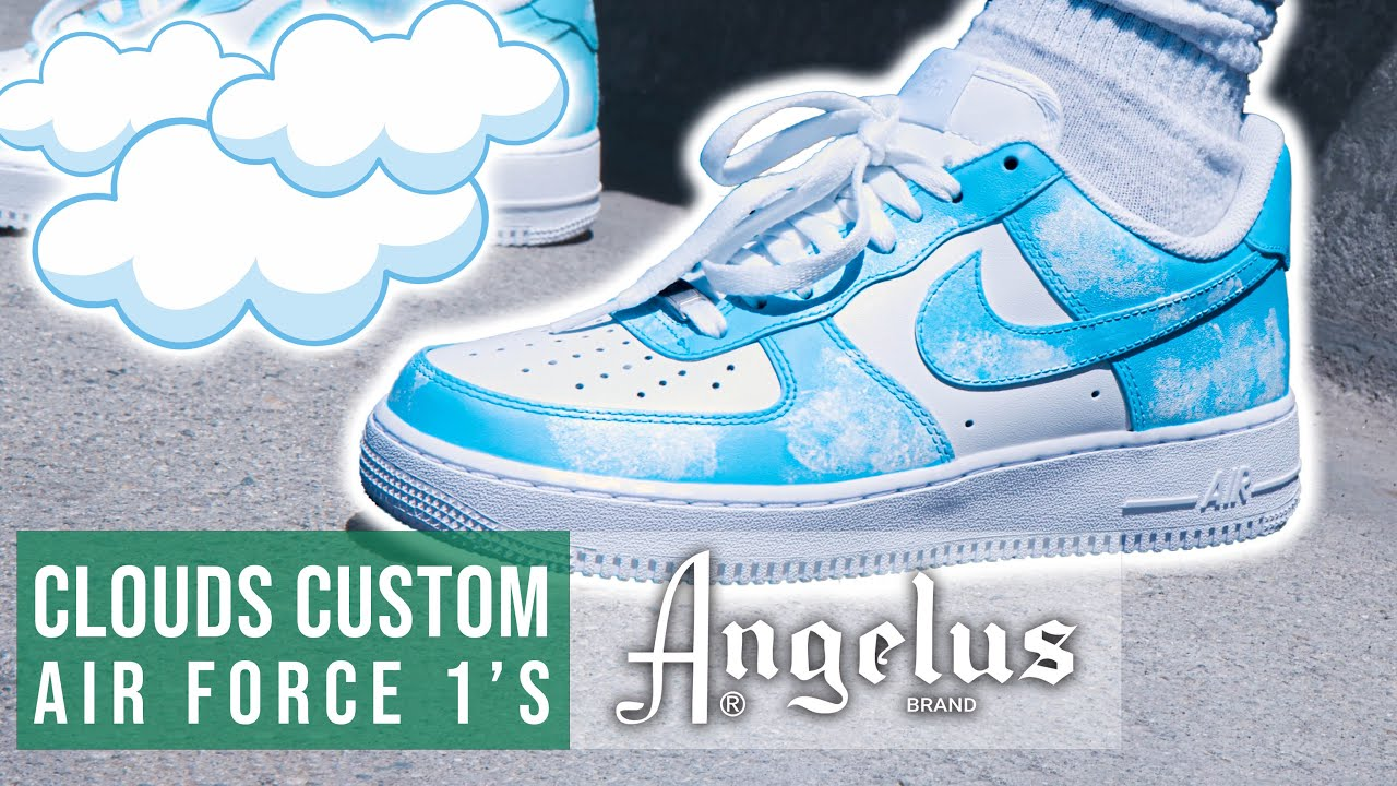 Clouds Customs Air Force 1's | Angelus Custom Shoe Tutorial