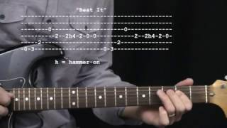 """Beat It"" by Michael Jackson:  365 Riffs For Beginning Guitar !!"