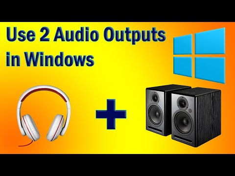 Use 2 Audio Outputs at the Same Time on Windows (FREE)
