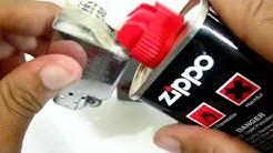 Cara Mengisi Minyak Korek Api Zippo (FLUID)
