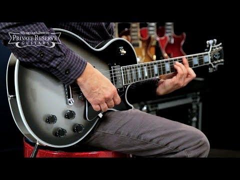 Gibson Custom Limited Edition Silver Burst Les Paul Custom Electric Guitar