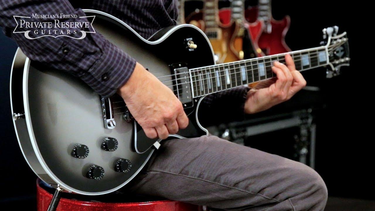 gibson custom limited edition silver burst les paul custom electric guitar youtube. Black Bedroom Furniture Sets. Home Design Ideas