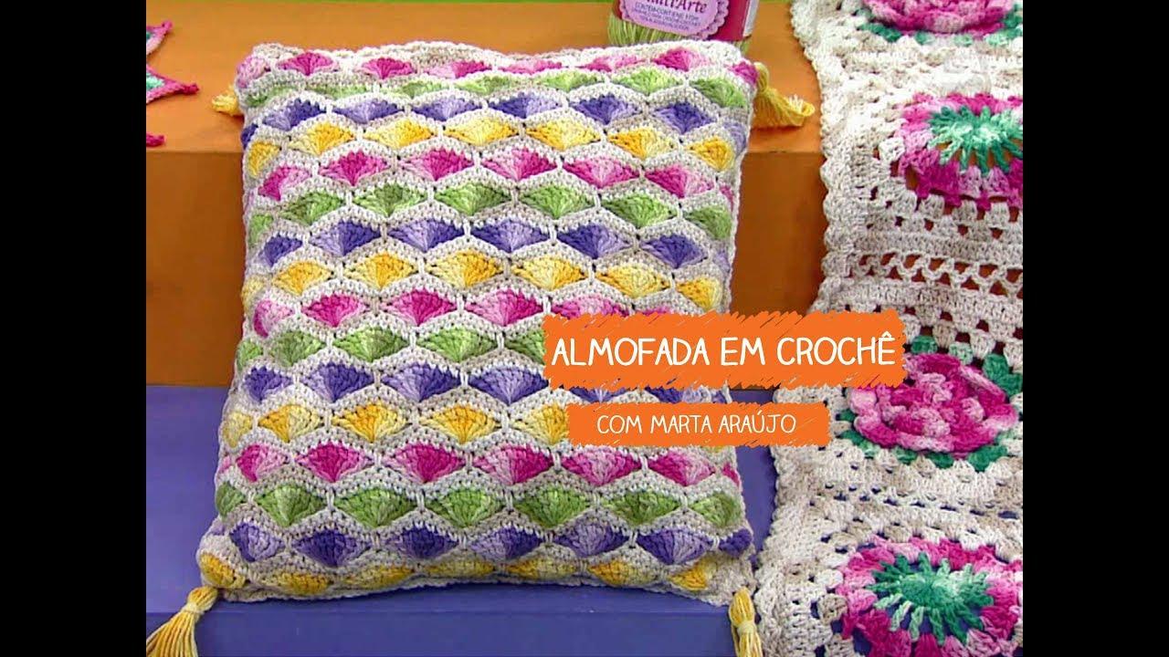 Loja Artesanato Rio De Janeiro ~ Almofada em Croch u00ea com Marta Araújo Vitrine do