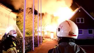 Förskola på Kaprifolievägen i Lund brann ner till grunden i natt