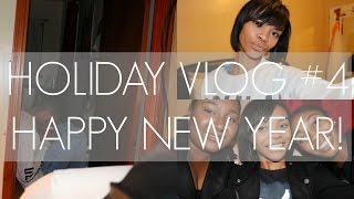 holiday vlog 4 happy new year party meet the gang opening gifts new hair cut sharonbmills