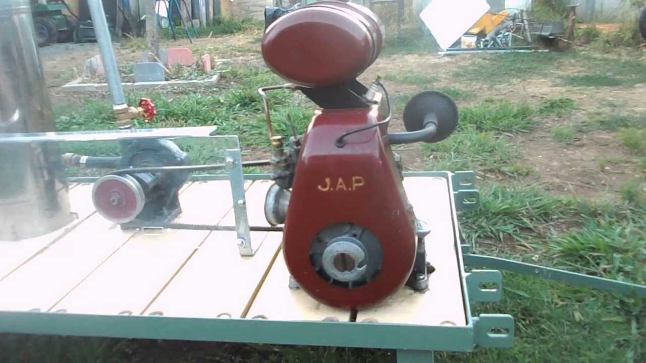 Vintage J A P Engine In Australia Youtube