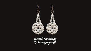 Pearl Earrings Tutorial Fashion Jewellery By Mangoquest DIY