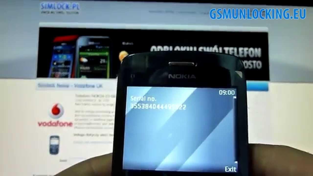 nokia c3-00 rm-614 security code