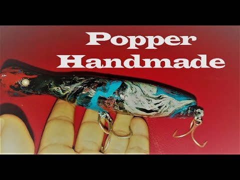 DIY Making Popper Lure Handmade✔✔✔👌👌✔✔✔طعم بوبر صناعة يدوية
