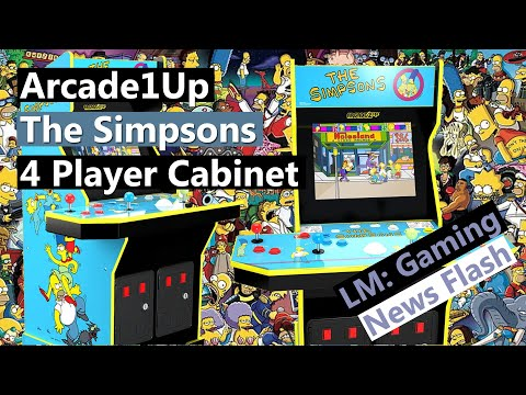 Arcade1Up The Simpsons 4 Player Arcade Cabinet - Gaming News Flash from Local Multiplayer