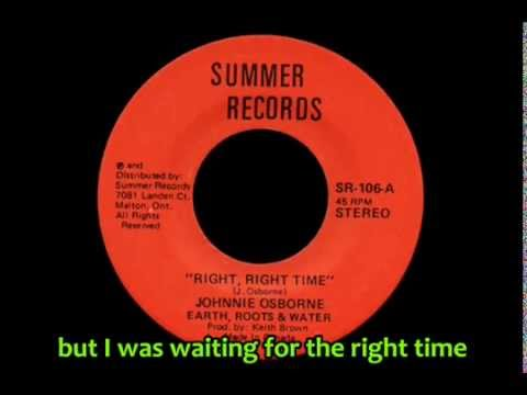 Johnny Osbourne - Right, Right Time