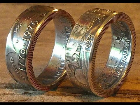 How To Make Double Sided Half Dollar Coin Rings (walking Liberty, Franklin, JFK, Barber Etc.)