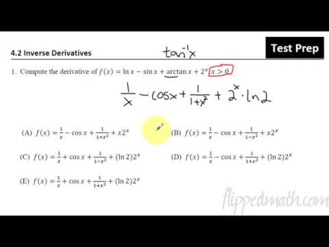 4 2 Inverse Derivatives - Calculus