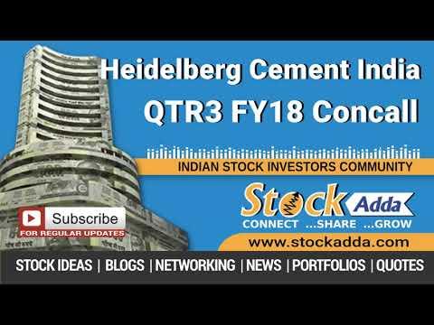 Heidelberg Cement India Ltd Investors Conference Call Q3FY18